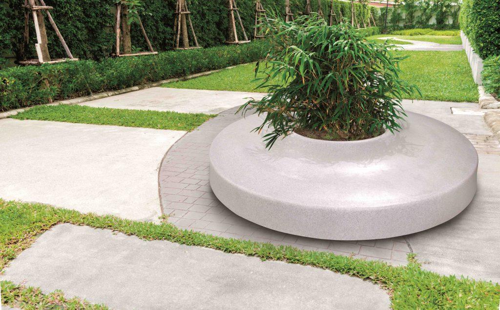 Piazza ziteiland, graniet licht, in een grote tuin, park, speelplein, ...