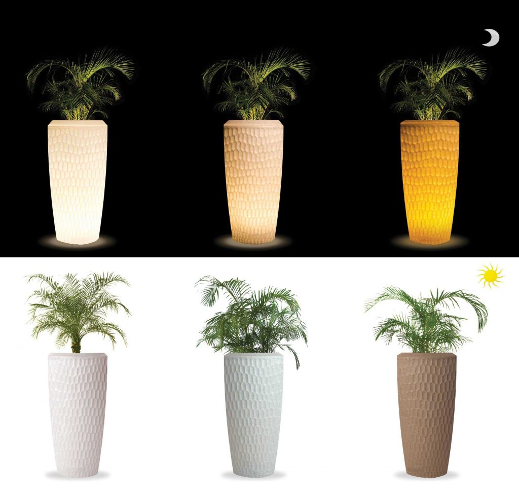 Sereno bloembakken met LED-verlichting