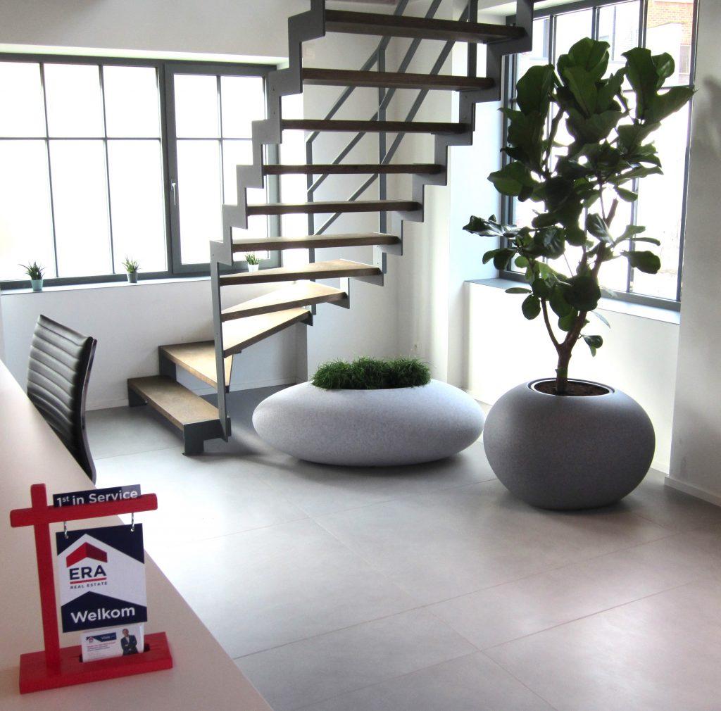 Rivierkei bloembak designobject meer groen in kantoor office design