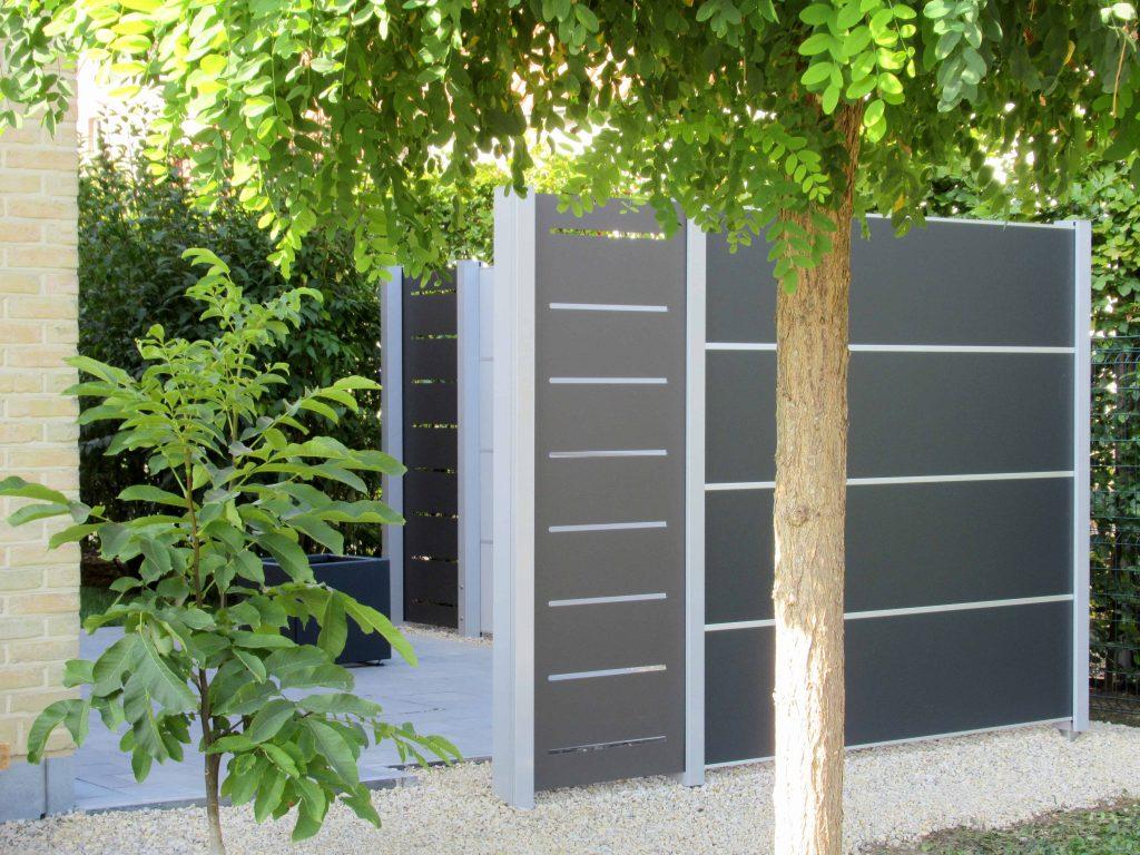 Gesloten tuinscherm voor meer privacy