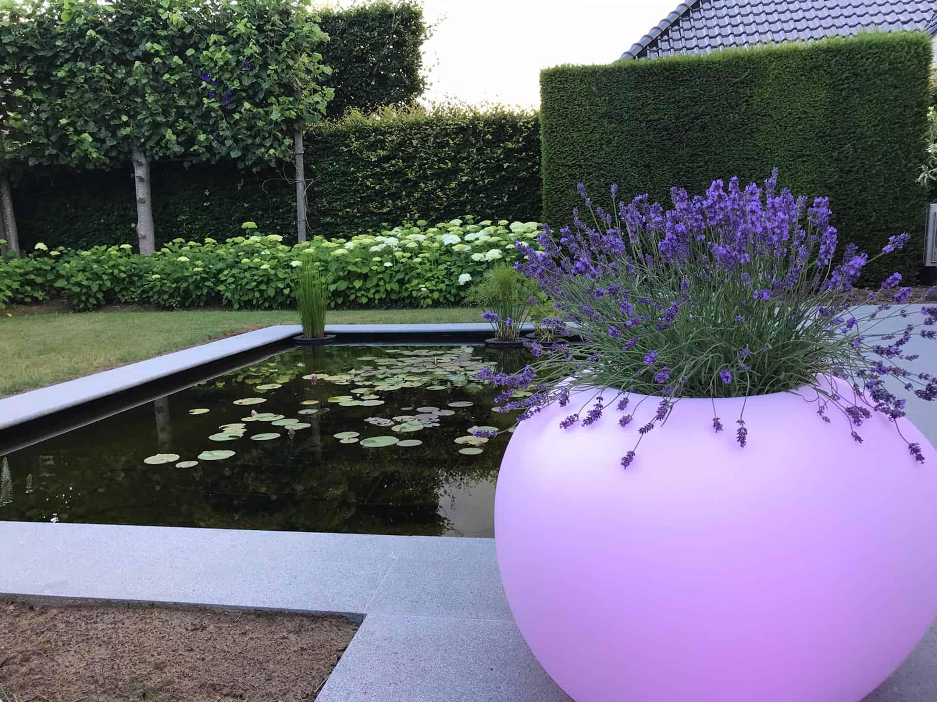 Rivierkei als lichtelement in de moderne tuininrichting