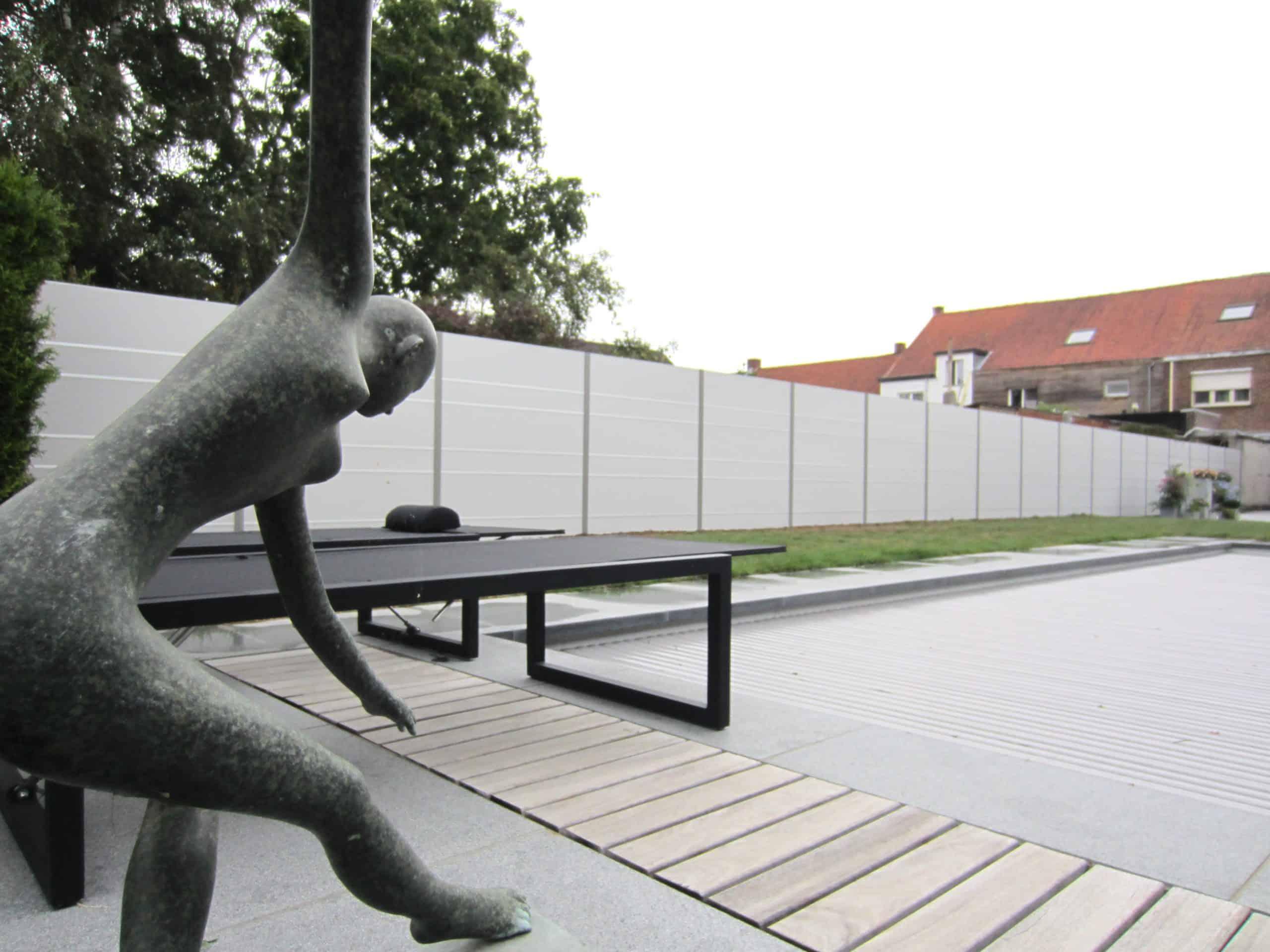 Moderne tuinwand voor meer privacy.